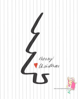 merry christmas  {digi-stamp & print}