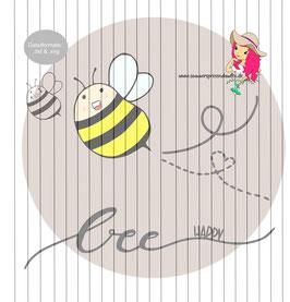 bee happy {plottervorlage}