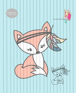 boho fox {plottervorlage}
