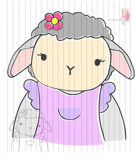 mrs sheep {digi-stamps}