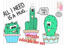 hug me {einzeln oder als 3er set}