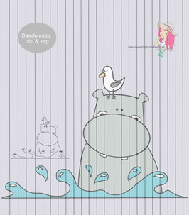 hippo {plottervorlage}
