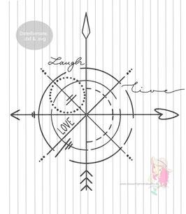kompass {plottervorlage}