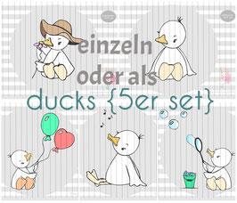 ducks {plottervorlage} (einzeln oder als 5er set)