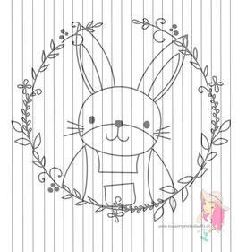bunny_boy - DIY vorlage für fensterbild {free printable}