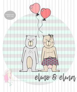 elmo & elma {plottervorlage}