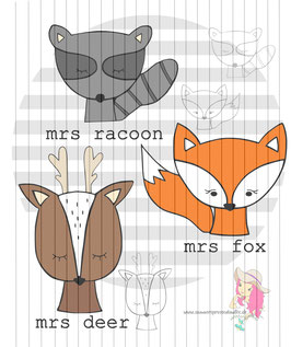 forrest-animals 3er {digi-stamps}
