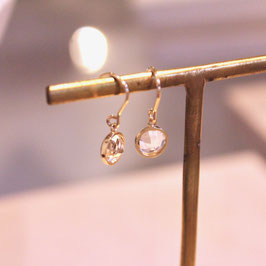 white topaz petit earrings