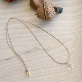 Silk crystal necklace