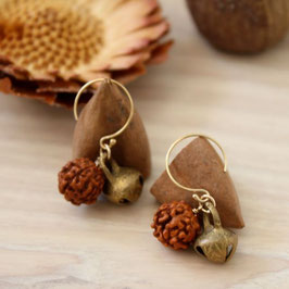 rudraksha earrings