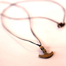 linen necklace with anchor