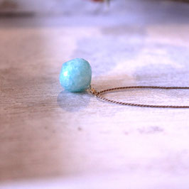 Amazonite silk necklace