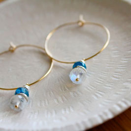 Ice blue petit hoops