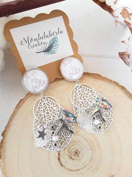 Boucles blanches colibri