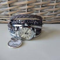 Montre  adaptée sur bracelet multiliens, liens à choisir