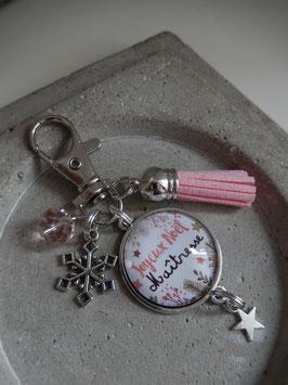Porte clés Court Noël Coloris au choix