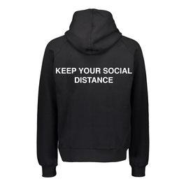 SOCIAL DISTANCE HOODIE - BLACK