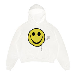 WHITE HOODIE SMILEY