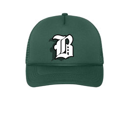B TRUCKER CAP - DARKGREEN