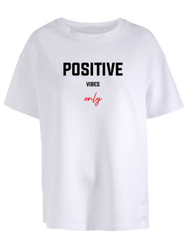 POSITIVE VIBES TEE - WHITE
