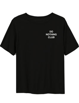 DO NOTHING CLUB - TEE BLACK