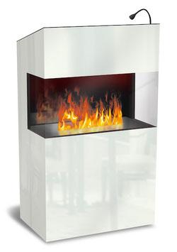 The Flame - Effektfeuer - Empfangstisch Welcome - weiss
