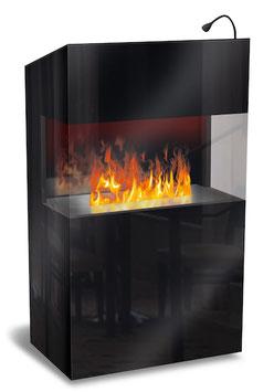 The Flame - Effektfeuer - Empfangstisch Welcome - schwarz