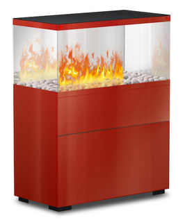 The Flame - Case Effektfeuer - Glas/rot
