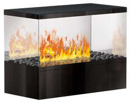 The Flame - Case Effektfeuer TOP - Glas/schwarz