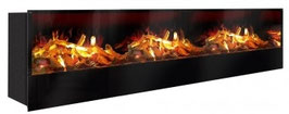 The Flame - Effektfeuer Hip Stone/Wood XXXL - Einbau