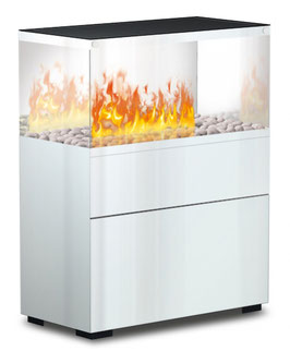 The Flame - Case Effektfeuer - Glas/weiss
