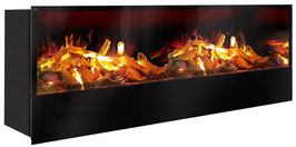 The Flame - Effektfeuer Hip Stone/Wood XXL - Einbau