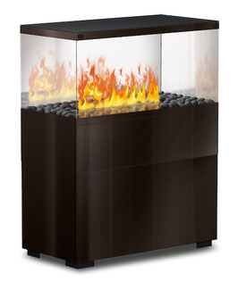 The Flame - Case Effektfeuer - Glas/schwarz