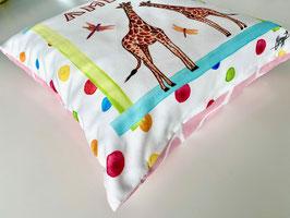"Personalized Pillow ""Giraffes pink"""