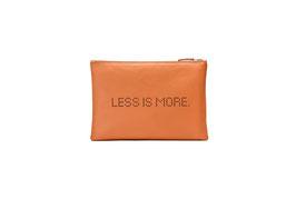 CLUTCH LESS IS MORE  orange - MUSTERPREIS  99,00 EUR - FÜGE  GUTSCHEIN CODE: SAMPLE99  EIN