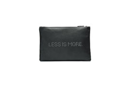 CLUTCH LESS IS MORE  schwarz - MUSTERPREIS  99,00 EUR - FÜGE  GUTSCHEIN CODE: SAMPLE99  EIN