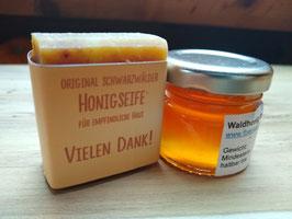Honigseife mit Honig
