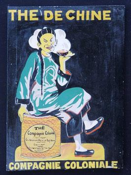 Publicité Thé de Chine artiste Africain F.Pito   :  Bénin