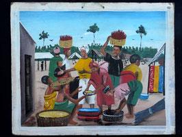 Tableau Africain artiste Béninois