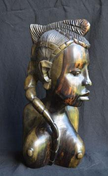 Statue Africaine  :   buste de femme