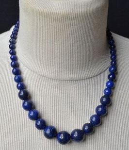 Collier en perles Lapis  lazulite  :  Thailande