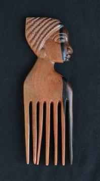 Peigne  africain en bois d'ébène :  Bénin