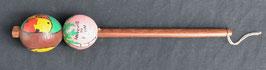 Maracas instrument de musique Africain en calebasse et bois  :  Bénin
