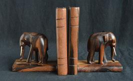 Serre livre éléphant Africain en bois d'ébène   : Bénin