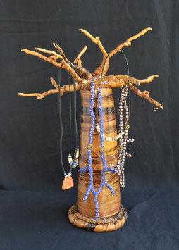 Baobab Africain porte-bijoux en fibre de banane  :  Kenya