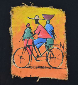 Peinture Africaine artiste Béninois  :  R. Dick