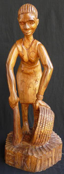 Statue Africaine du bénin  : Balayeuse