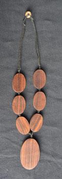 collier cordon, bois    :  Thailande