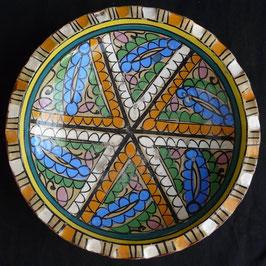Plat Africain en céramique  :  Maroc
