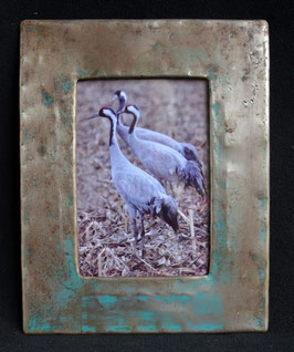 Cadre photo en fût de métal recyclé : Burkina Faso